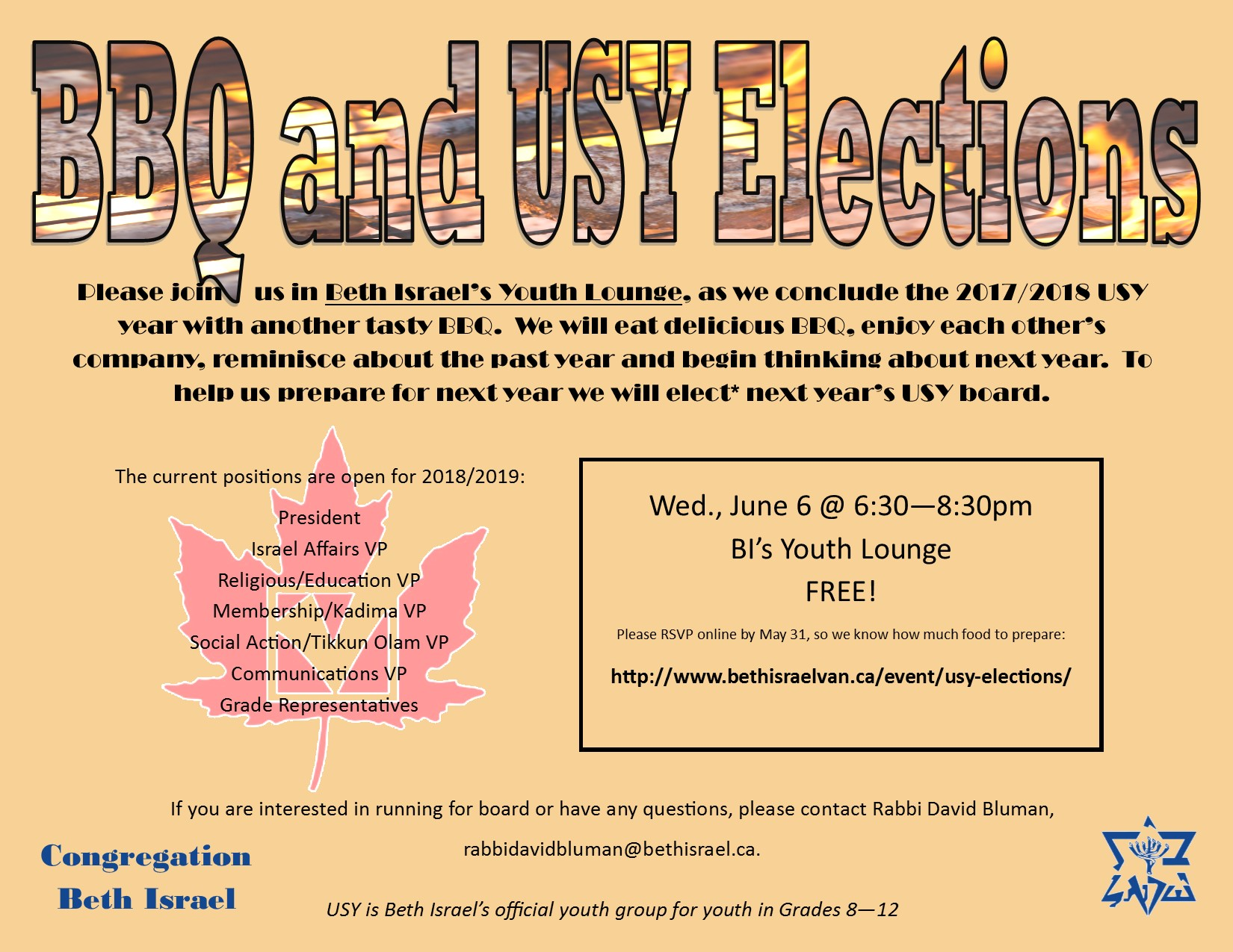 USY is Beth Israel's official youth group for those in Grades 8-12